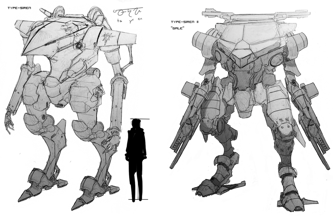 Siren and Siren II Sketches by Zaeta-K