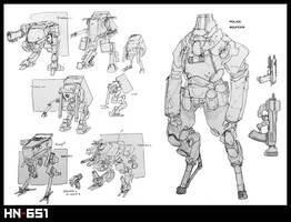 [HN-651] Mecha and Police Cyborg Bouncer by Zaeta-K