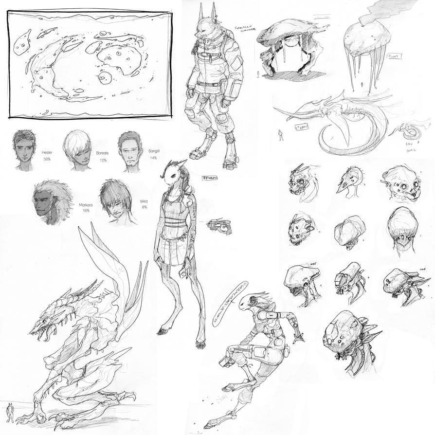Giant Sketchdump VII by Zaeta-K