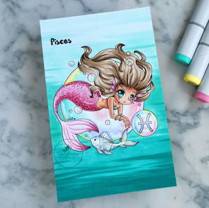 Yampuff Zodiac Pisces colored by HartWildCards