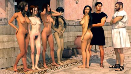 roman slave market by belzaph