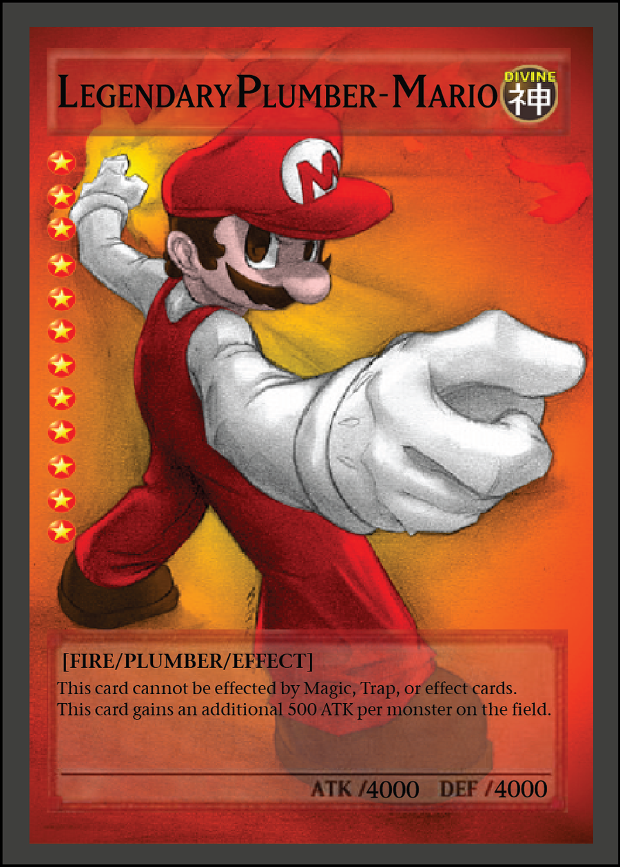 legendary plumber mario yu gi oh card by avantia on deviantart