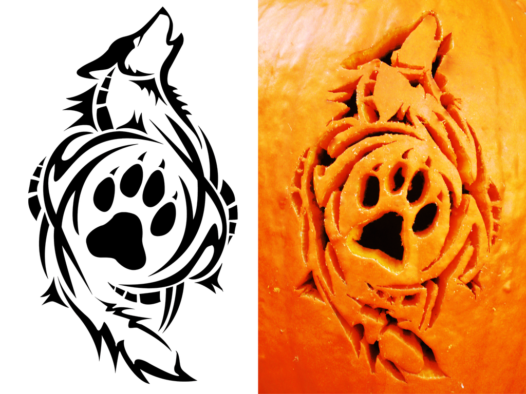 Tribal wolf carving by satoshisdarkchan on deviantart
