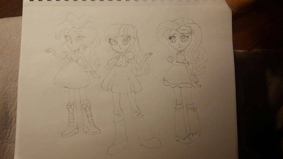 Equestria Girls: Pinkie Pie, Twilight, Fluttershy by sophiafreak7797