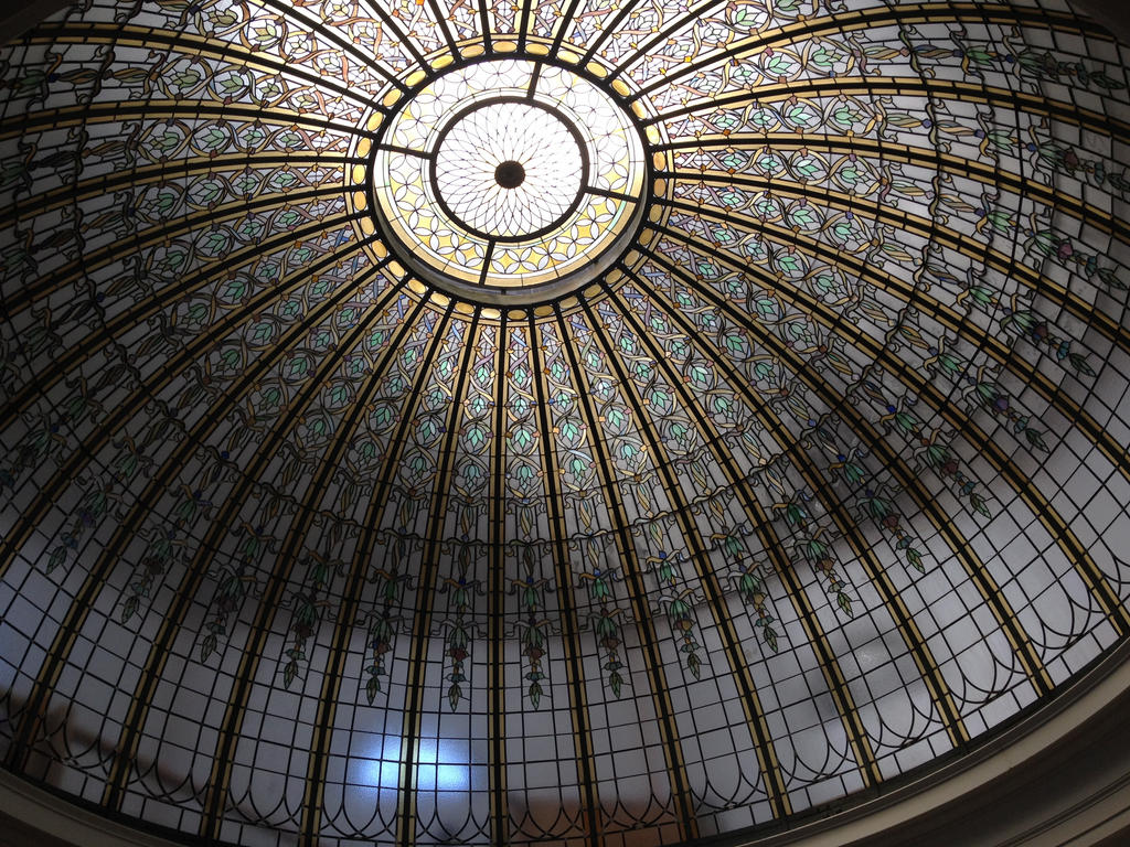 Stained Glass Dome Ceiling by percyjackson8299