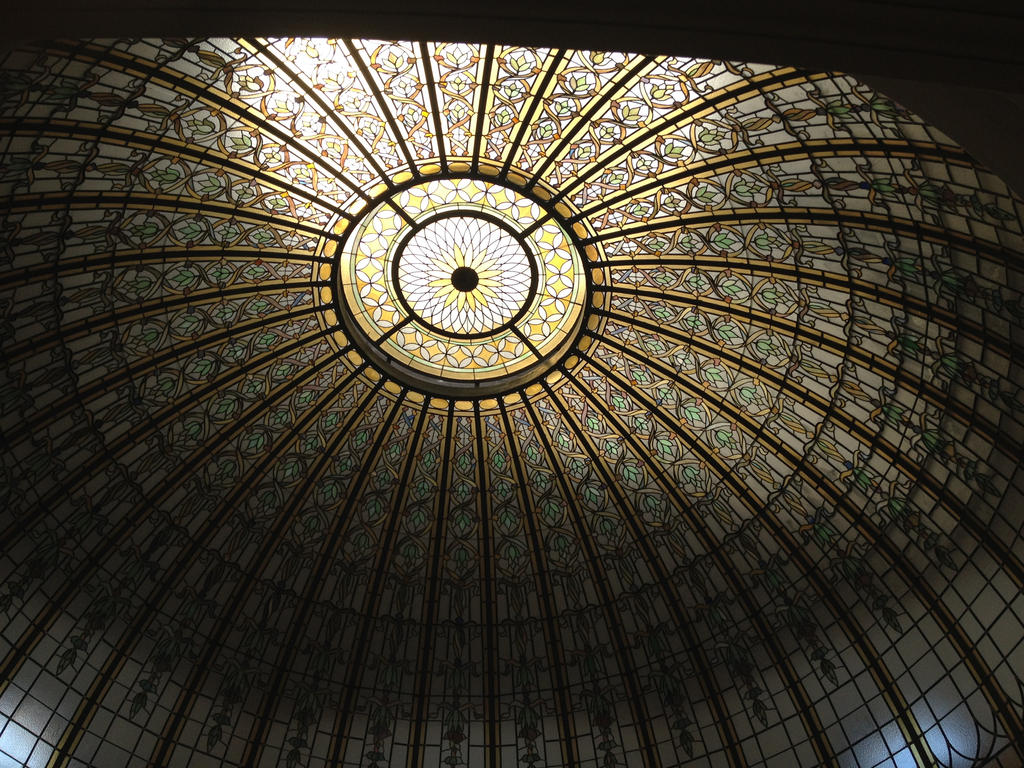 Stained Glass Dome Ceiling 2 by percyjackson8299