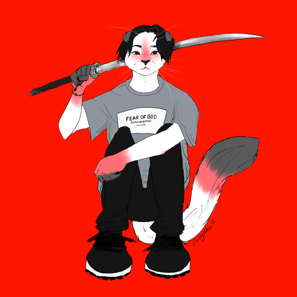 A TO THE G TO THE- wait who gave that cat a sword