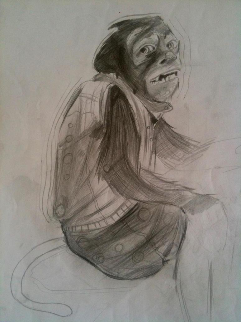 monkey by sefalet