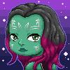 Gamora Pixelart by Kara-ne