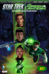 Star Trek Green Lantern #1 Emerald City Comics by AdamRiches