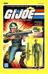 G.I. Joe ARAH #220 Zap toy comic cover IDW by AdamRiches