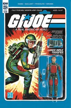G.I. Joe ARAH #224 Flash toy comic cover IDW
