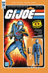 G.I. Joe ARAH #226 Cobra Commander toy comic cover by AdamRiches