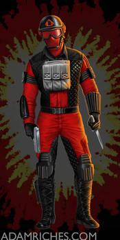 G.I. Joe Cobra Air Devil Packaging Illustration