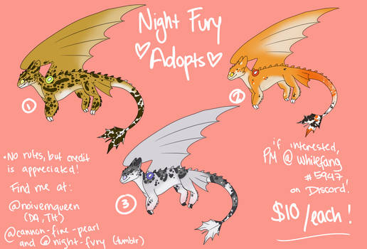 night fury / leopard gecko adopts
