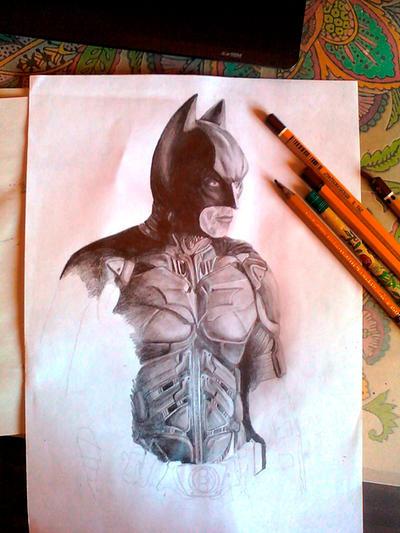 WIP-Batman by Evulee