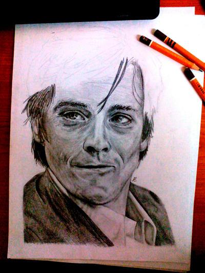 WIP - Alain Delon by Evulee