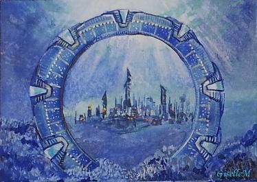 Stargate Atlantis - watercolor - fan art by Giselle-M