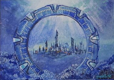 Stargate Atlantis - watercolor by Giselle-M