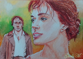 Pride and Prejudice - watercolor - fan art by Giselle-M