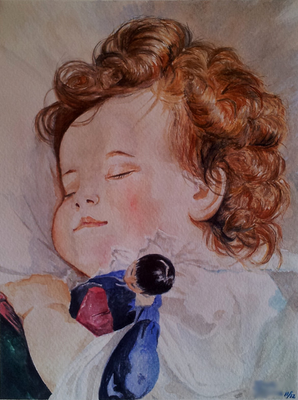 Princess Marie Franziska - watercolor study by Giselle-M