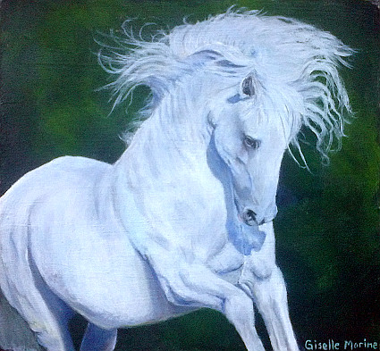 Beauteous and Swift ~ acrylic painting by Giselle-M