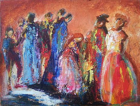 Gala Gossip - Acrylic impressionism