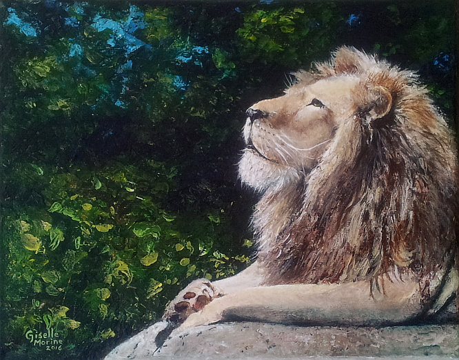 Fearless - Acrylic Painting by Giselle-M