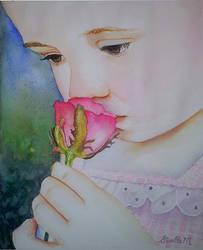 Sweet Rose - watercolor