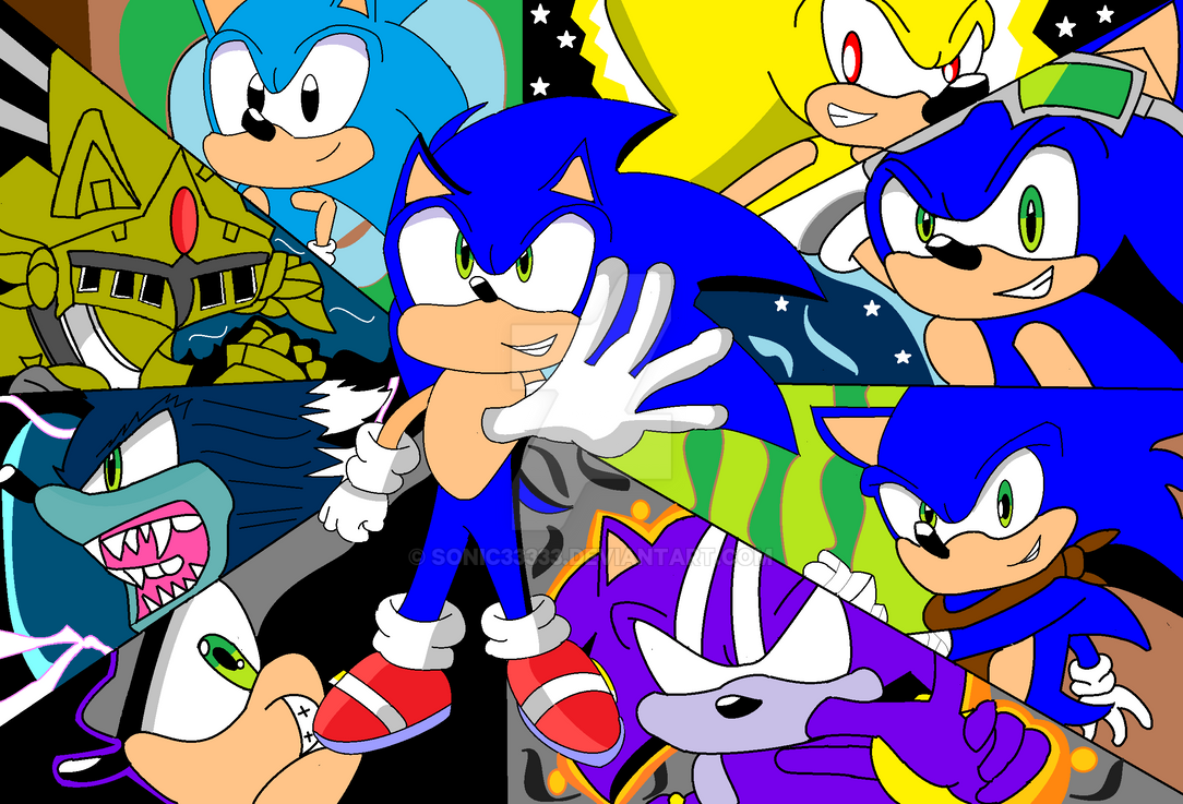 Sonic The Hegehog Evolution by Sonic33333