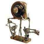 Mixed Media Altered Clock Assemblage Art (1)