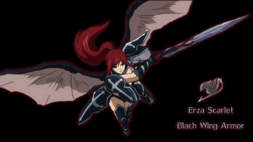 Erza Scarlet Black Wing Armor  Wallpaper  by ng9Erza Scarlet Black Wing Armor Cosplay