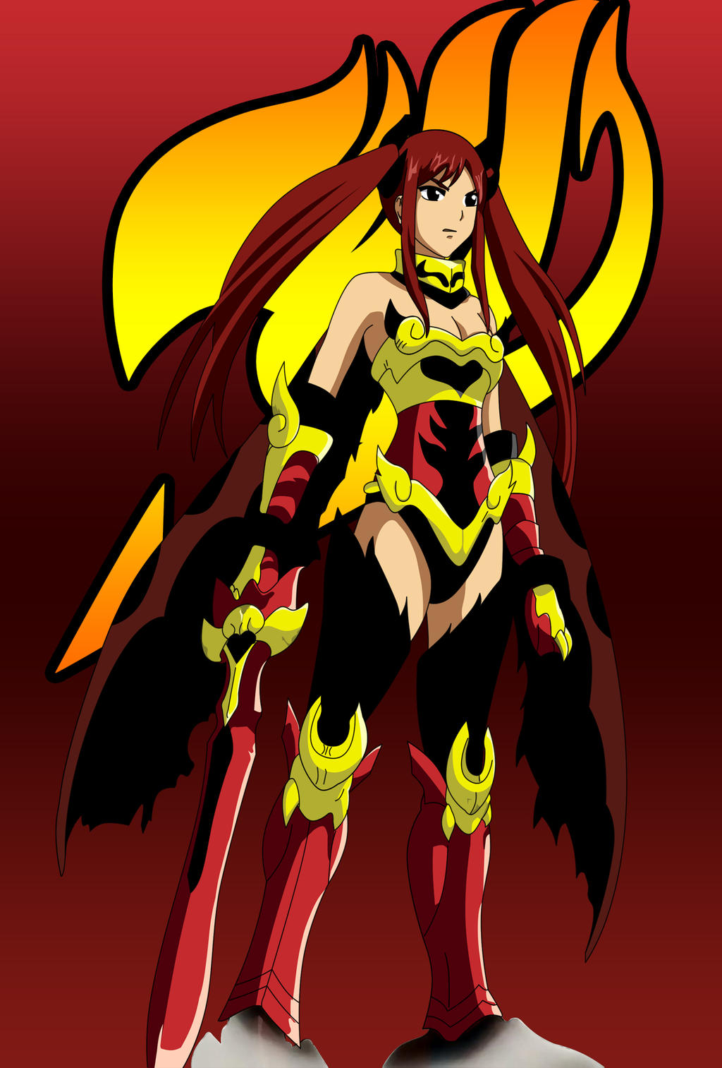 Erza Scarlet Flame Empress Armor by NGSims3 by ng9Fairy Tail Erza Flame Empress Armor
