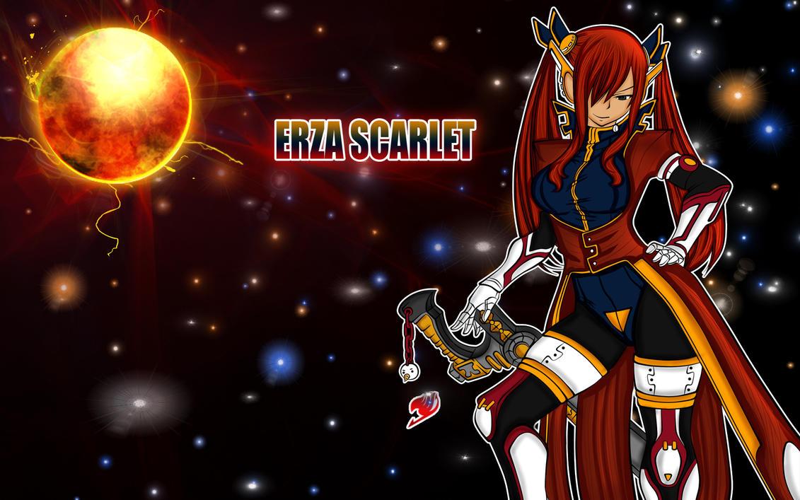 Erza scarlet in space by ng9 on deviantart - Erza scarlet wallpaper ...