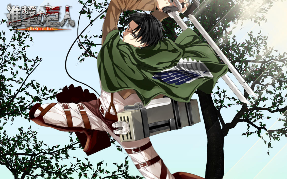 Levi Cleaning Screen Wallpaper Attack On Titan