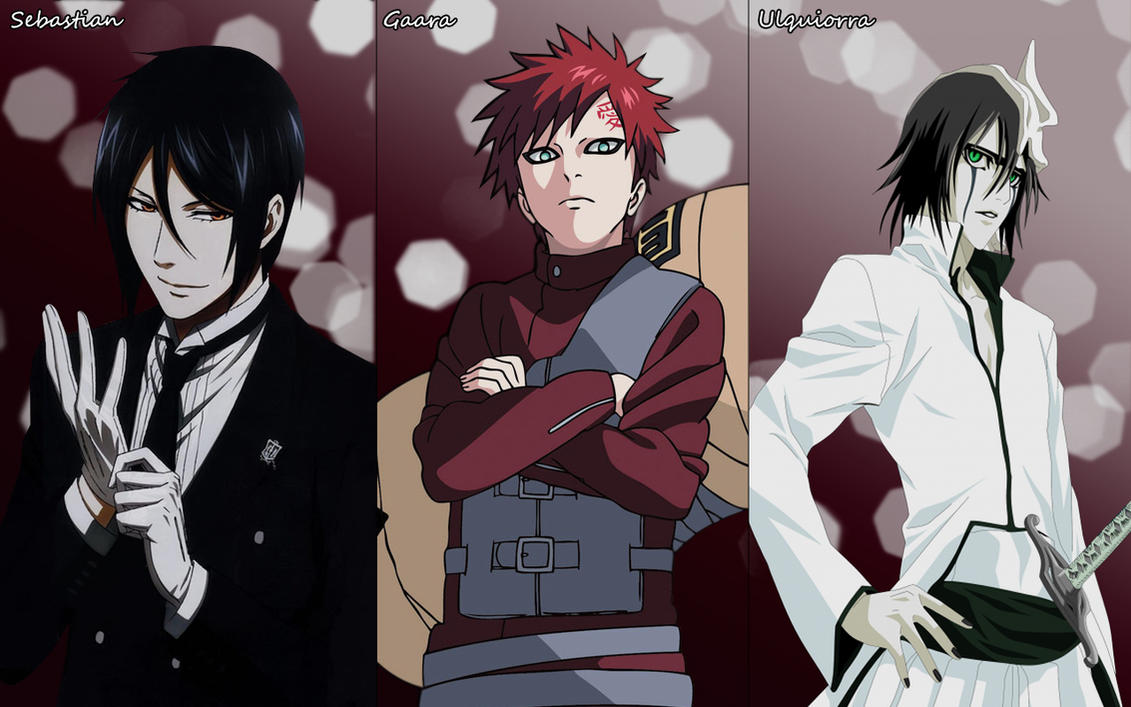Sebastian, Gaara and Ulquiorra Wallpaper by ng9