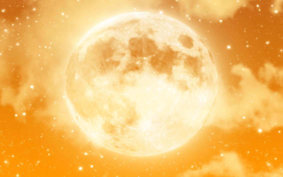 Moon Orange Wallpaper by ng9 on DeviantArt