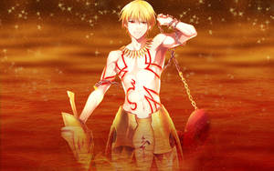 Fate Stay Night - Golden King Gilgamesh Wallpaper by ng9