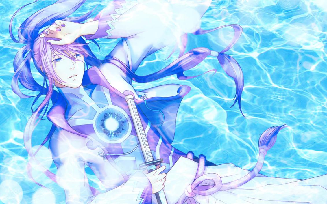 Gakupo Blue Water Wallpaper by ng9