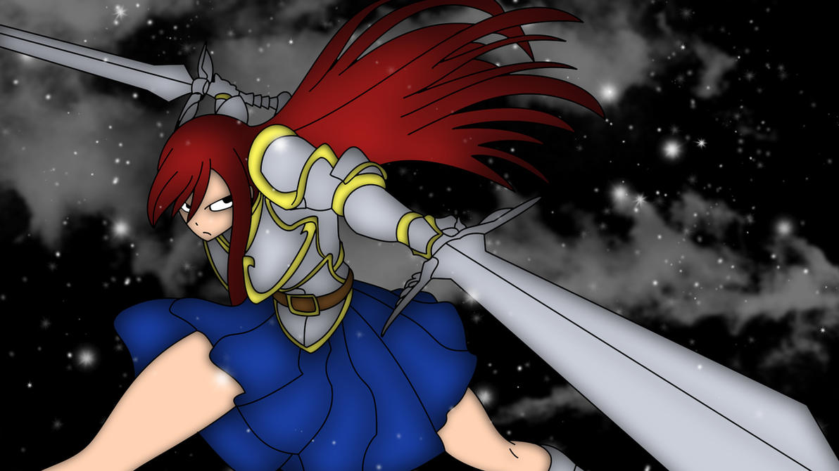 Erza Scralet Winter Wallpaper 1 by ng9