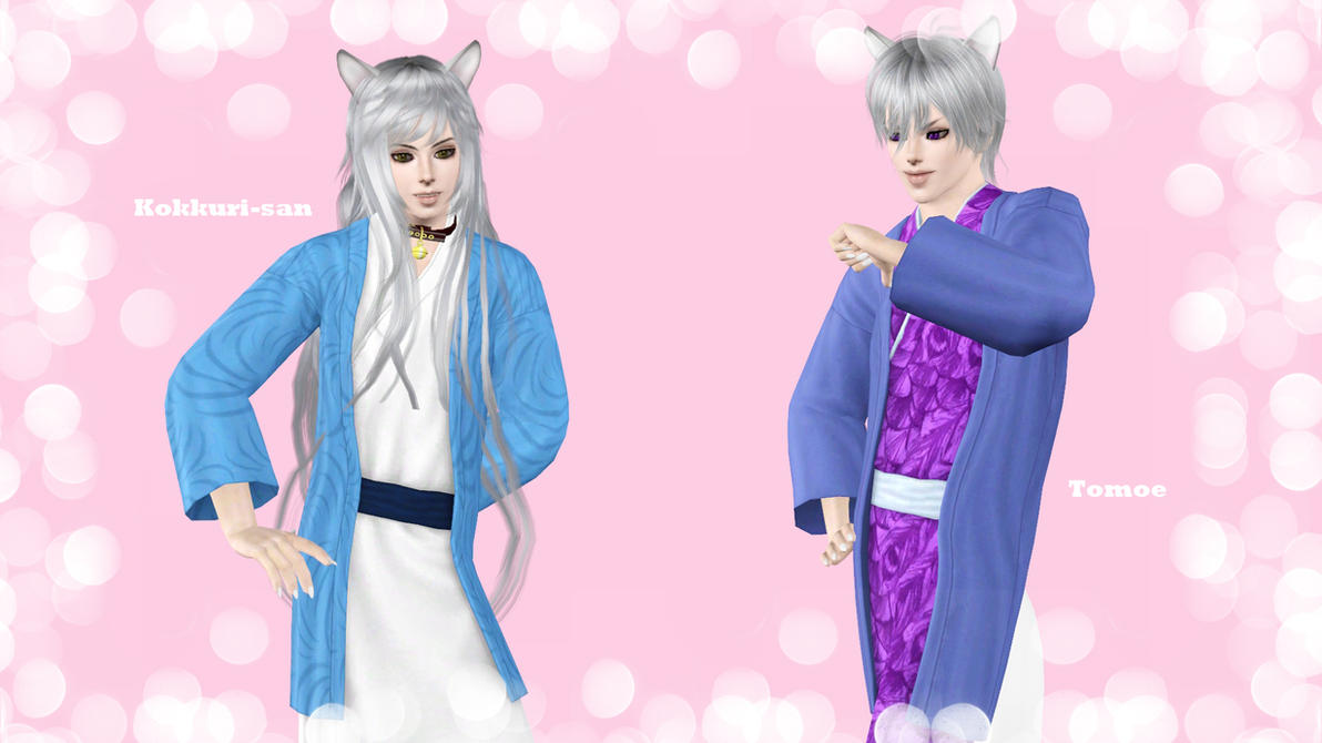 2 Fox Spirits - Kokkuri-san and Tomoe by ng9