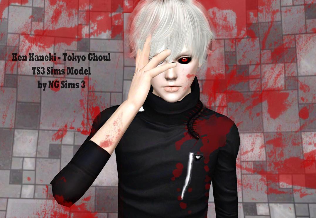 Ken Kaneki - Tokyo Ghoul TS3 Sims Model by ng9