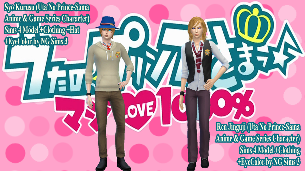 Syo Kurusu and Ren Jinguji - Sims4Model by ng9