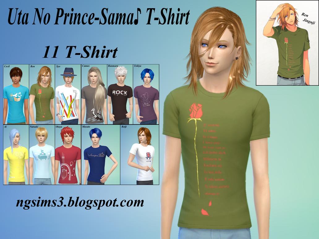 Uta No Prince-Sama TShirt - TS4CC by ng9