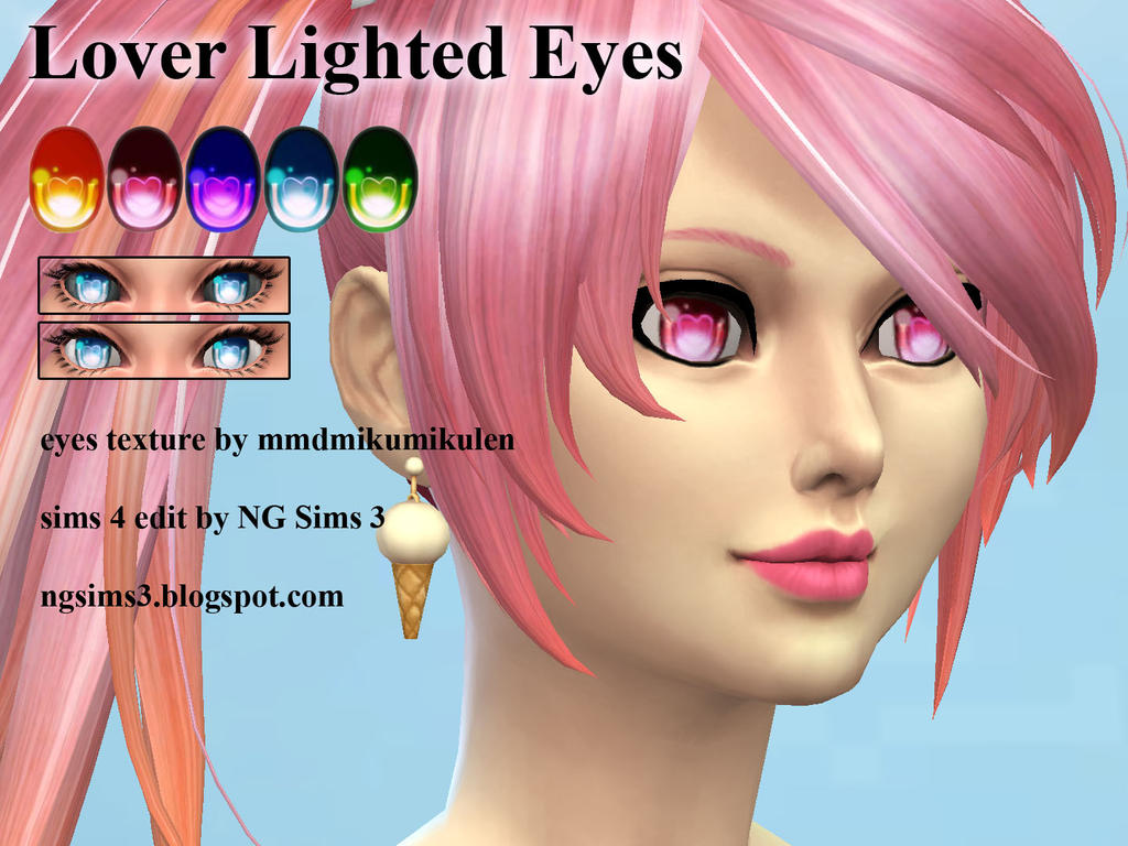 Sims 4 Anime Characters Mod : Lover lighted eyes ts cc by ng on deviantart