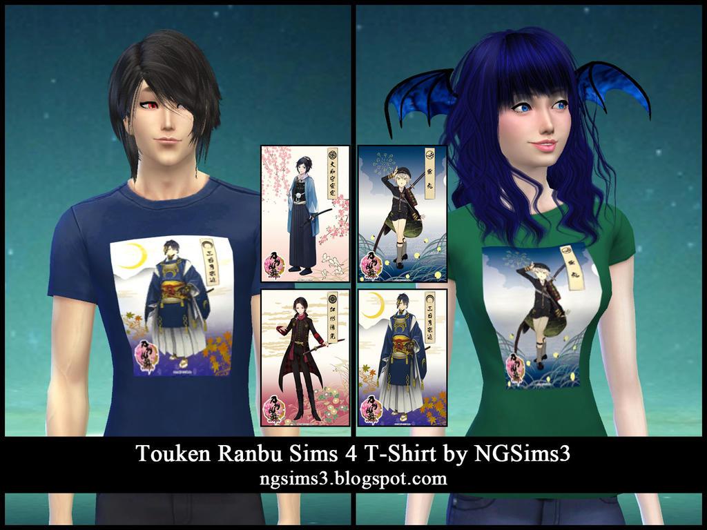 Touken Ranbu Sims 4 T-Shirts by NGSims3 by ng9