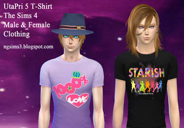 UtaPri 5 T-Shirt for The Sims 4 by ng9