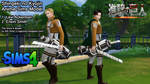 Attack on Titan Levi+Erwin Sims4Download by ng9