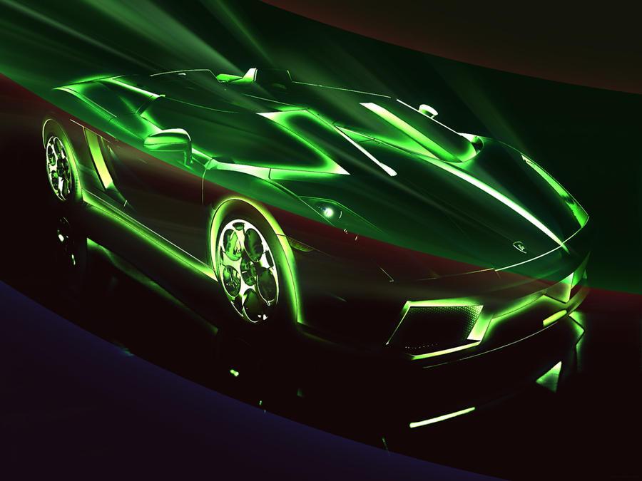 Neon Car By Natthaniell