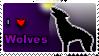 I love wolves stamp by Pixel-Sam
